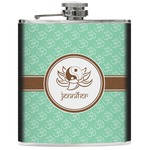 Om Genuine Leather Flask (Personalized)
