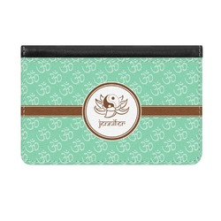 Om Genuine Leather ID & Card Wallet - Slim Style (Personalized)