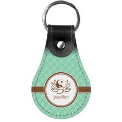 Om Genuine Leather  Keychain (Personalized)