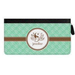 Om Genuine Leather Ladies Zippered Wallet (Personalized)