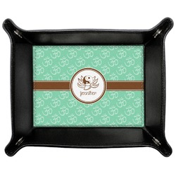 Om Genuine Leather Valet Tray (Personalized)