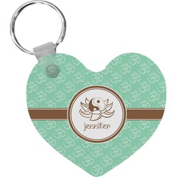 Om Heart Keychain (Personalized)