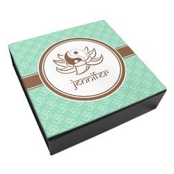 Om Leatherette Keepsake Box - 3 Sizes (Personalized)