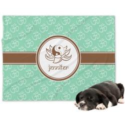 Om Minky Dog Blanket (Personalized)