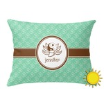 Om Outdoor Throw Pillow (Rectangular) (Personalized)