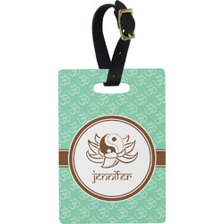 Om Rectangular Luggage Tag (Personalized)