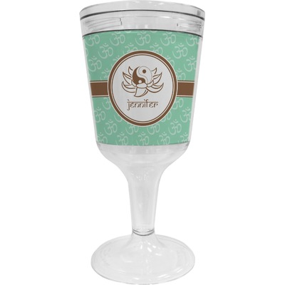Om Wine Tumbler - 11 oz Plastic (Personalized)