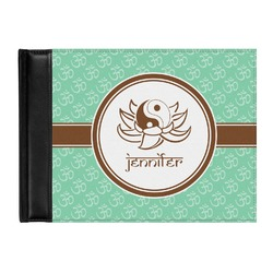 Om Genuine Leather Guest Book (Personalized)