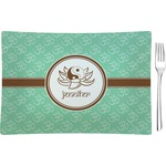 Om Glass Rectangular Appetizer / Dessert Plate - Single or Set (Personalized)