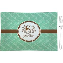 Om Rectangular Glass Appetizer / Dessert Plate - Single or Set (Personalized)