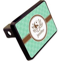"""Om Rectangular Trailer Hitch Cover - 2"""" (Personalized)"""