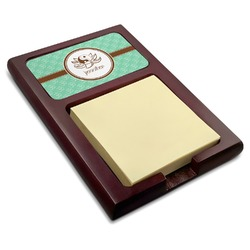 Om Red Mahogany Sticky Note Holder (Personalized)