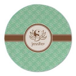 Om Round Linen Placemat (Personalized)