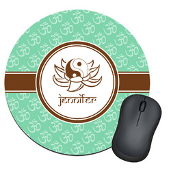 Om Round Mouse Pad (Personalized)