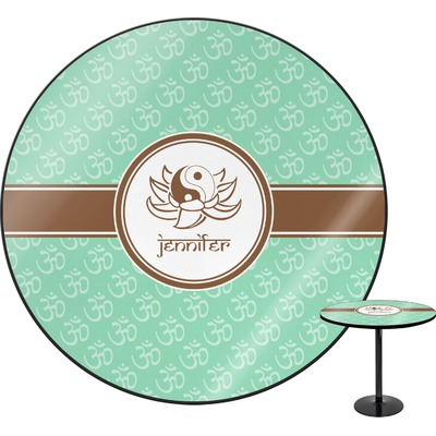 """Om Round Table - 24"""" (Personalized)"""