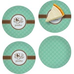 Om Set of Appetizer / Dessert Plates (Personalized)