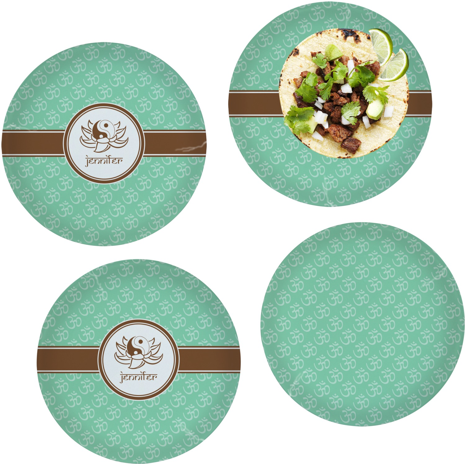 Om Dinner Plate Personalized RNK Shops