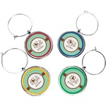 Om Wine Charms (Set of 4) (Personalized)