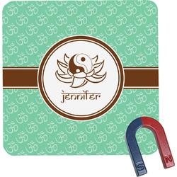 Om Square Fridge Magnet (Personalized)