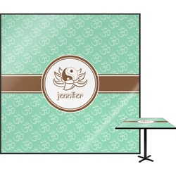 """Om Square Table Top - 24"""" (Personalized)"""