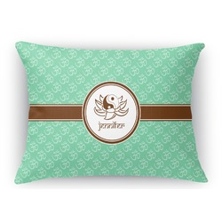 Om Rectangular Throw Pillow Case (Personalized)