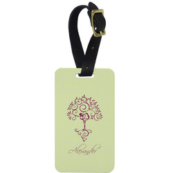 Yoga Tree Metal Luggage Tag w/ Name or Text