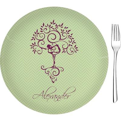 "Yoga Tree 8"" Glass Appetizer / Dessert Plates - Single or Set (Personalized)"