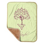 "Yoga Tree Sherpa Baby Blanket 30"" x 40"" (Personalized)"