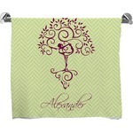 Yoga Tree Full Print Bath Towel (Personalized)