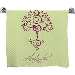 Yoga Tree Full Print Bath Towel (Personalized)