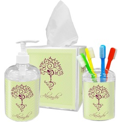 Yoga Tree Bathroom Accessories Set (Personalized)