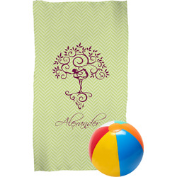 Yoga Tree Beach Towel (Personalized)