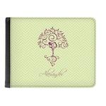 Yoga Tree Genuine Leather Men's Bi-fold Wallet (Personalized)