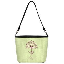 Yoga Tree Bucket Bag w/ Genuine Leather Trim (Personalized)