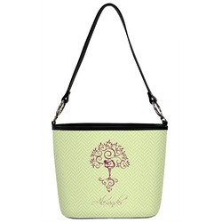 Yoga Tree Bucket Bag w/ Genuine Leather Trim (Personalized)