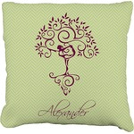 Yoga Tree Faux-Linen Throw Pillow (Personalized)
