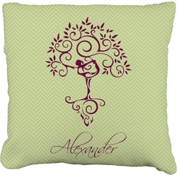 Yoga Tree Burlap Pillow Case (Personalized)