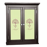 Yoga Tree Cabinet Decal - Custom Size (Personalized)