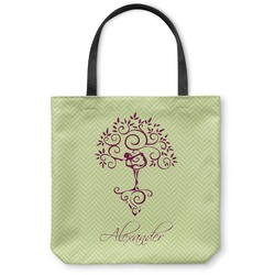 Yoga Tree Canvas Tote Bag (Personalized)