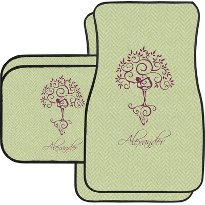 Yoga Tree Car Floor Mats Set - 2 Front & 2 Back (Personalized)