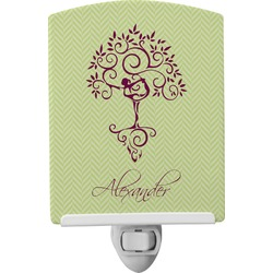 Yoga Tree Ceramic Night Light (Personalized)
