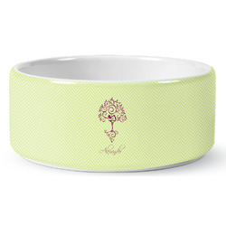 Yoga Tree Pet Bowl (Personalized)