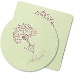 Yoga Tree Rubber Backed Coaster (Personalized)