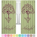 Yoga Tree Curtains (2 Panels Per Set) (Personalized)