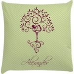 Yoga Tree Decorative Pillow Case (Personalized)