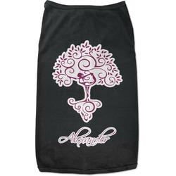 Yoga Tree Black Pet Shirt - Multiple Sizes (Personalized)