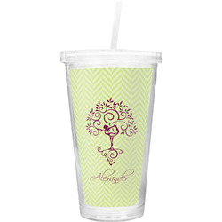 Yoga Tree Double Wall Tumbler with Straw (Personalized)