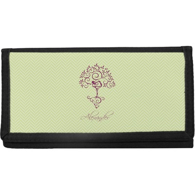 Yoga Tree Canvas Checkbook Cover (Personalized)