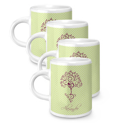 Yoga Tree Espresso Mugs - Set of 4 (Personalized)