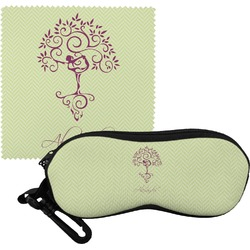 Yoga Tree Eyeglass Case & Cloth (Personalized)